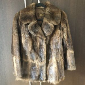 Jackets & Blazers - Real Mink Fur brown size Small